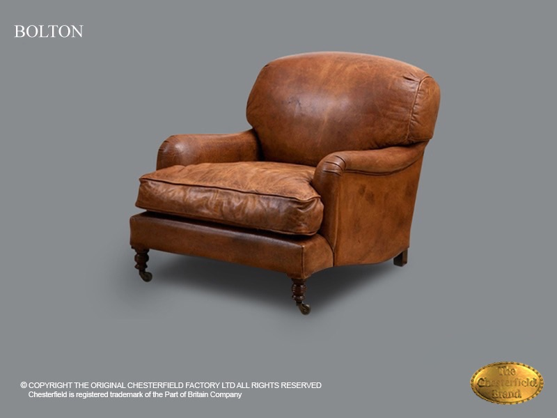 Chesterfield Fauteuil Leer.Chesterfield Bolton Fauteuil Top Class Brown Leder Chesterfield Com