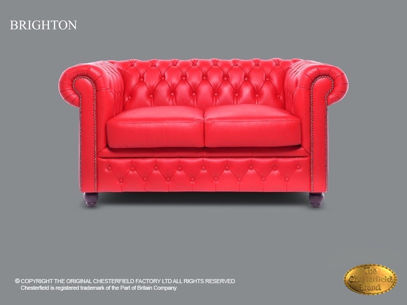 Chesterfield 2 Seat Brighton Red Leather Chesterfieldcom