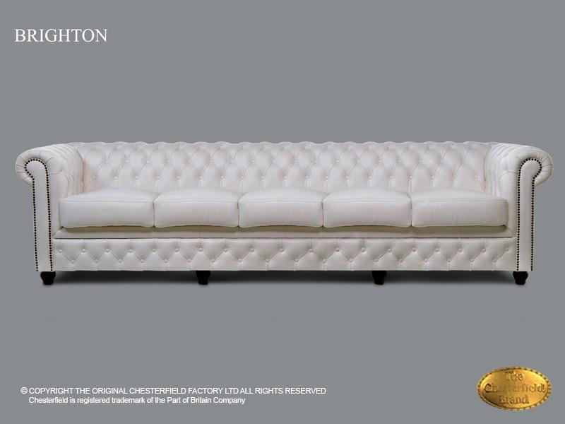 Astounding Chesterfield 5 Seat Sofa Brighton White Leather Short Links Chair Design For Home Short Linksinfo