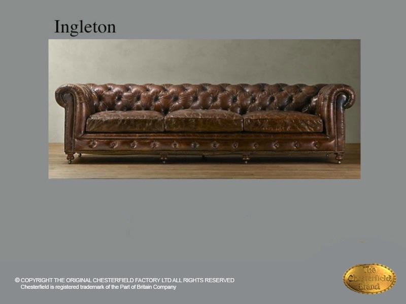chesterfield 3 sitzer sofa ingleton 3 old look braunes leder, Hause deko