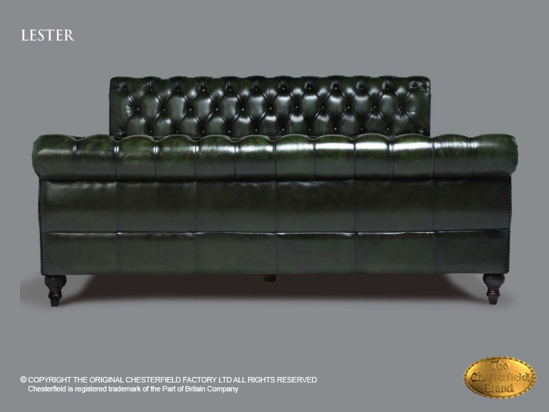 Chesterfield Bed Lester 180 X 200 Cm Antique Green Leather