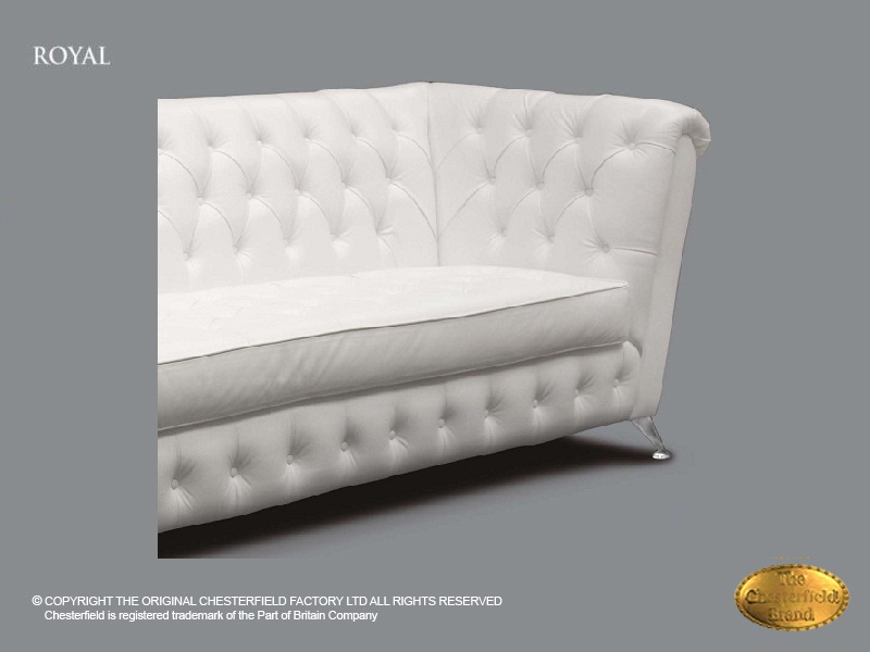 Witte Chesterfield Hoekbank Leer.Chesterfield 2 Zits Bank Royal Wit Leder Chesterfield Com